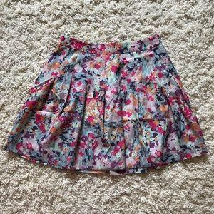 J Crew Floral Skirt. Size 00